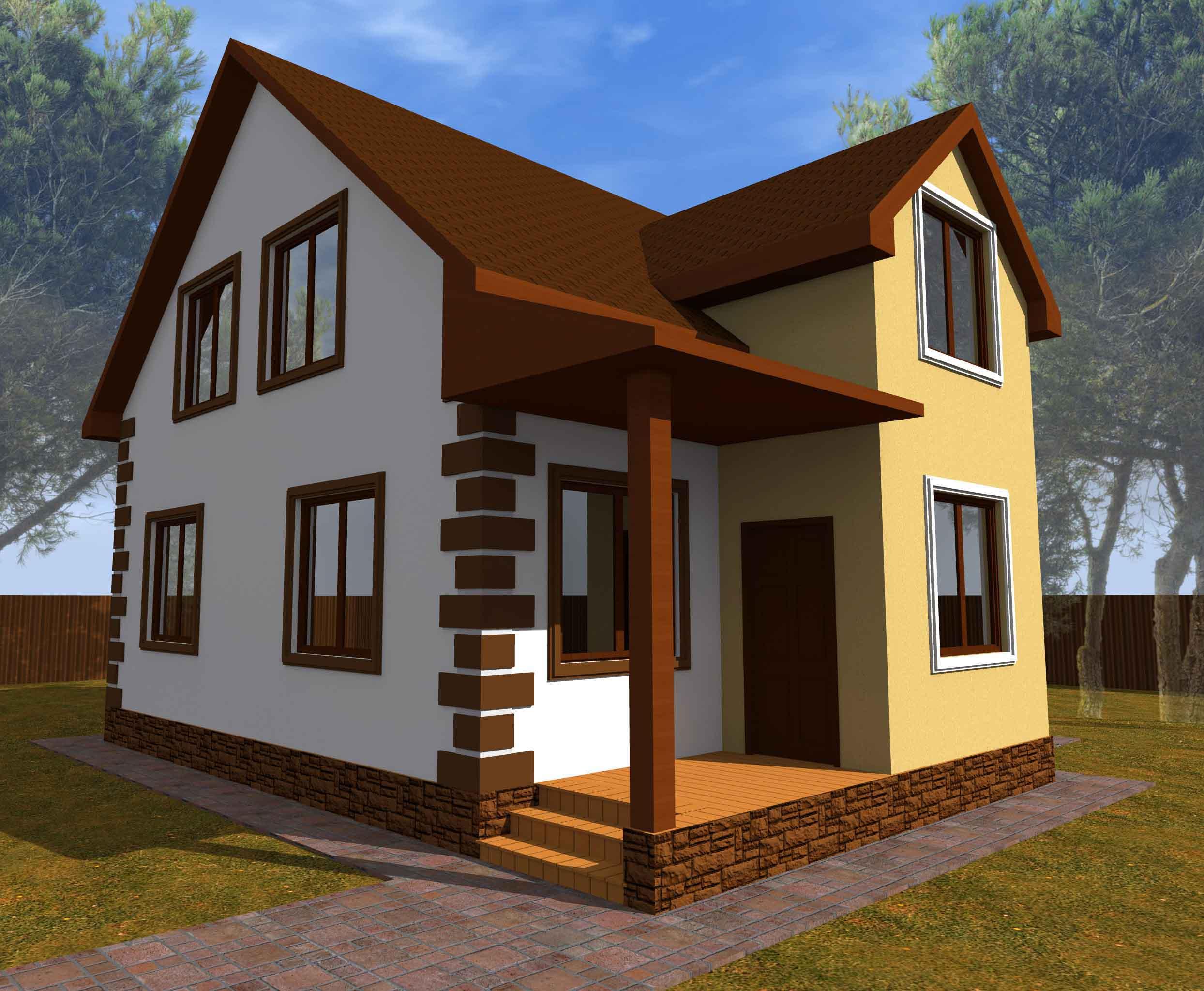 Проект каркасного дома 163 квадратных метра