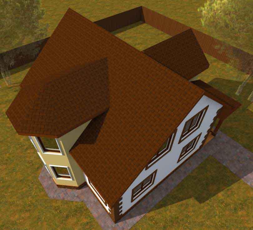 Проект каркасного дома 163 квадратных метра вид сверху