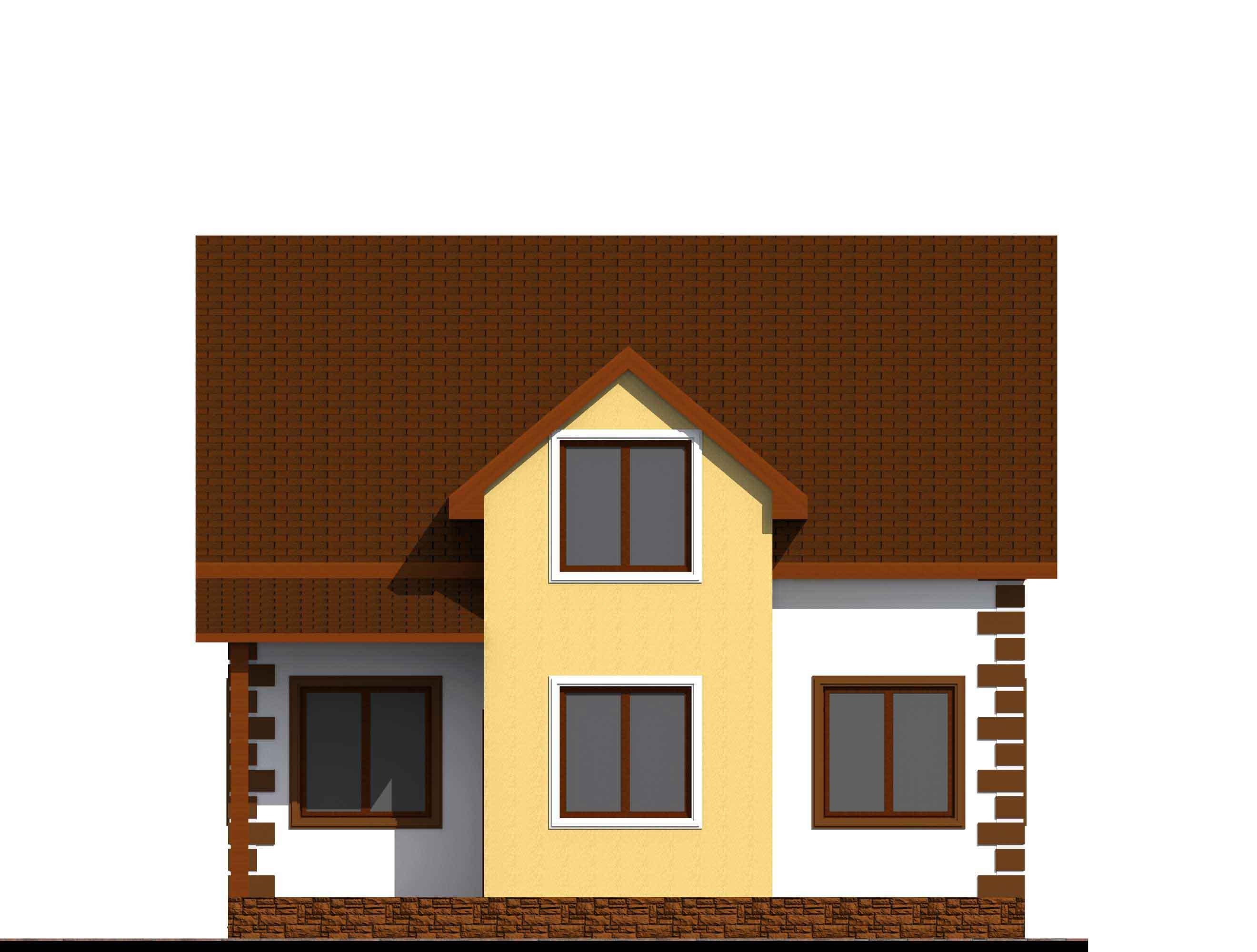 Проект каркасного дома 163 квадратных метра вид спереди