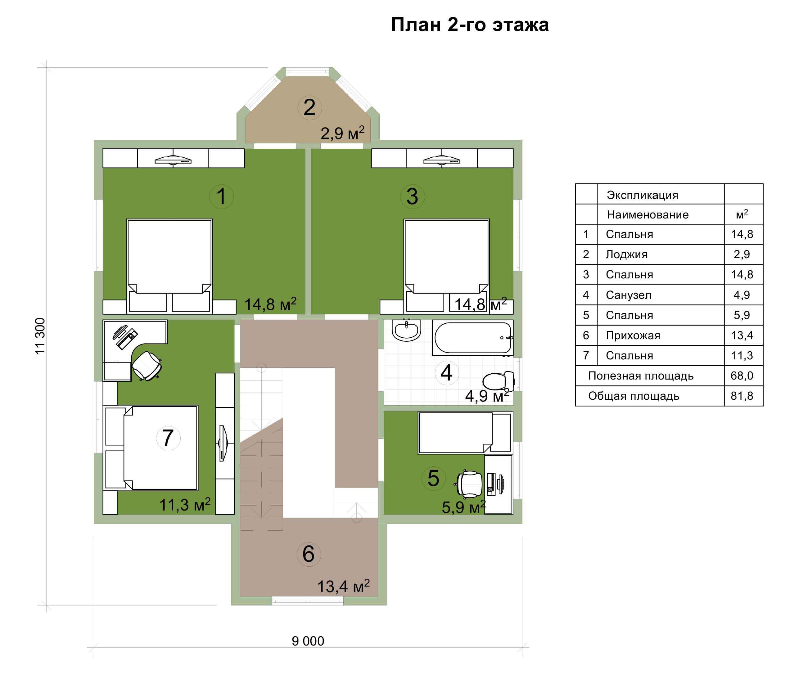 Проект каркасного дома 163 квадратных метра план второго этажа